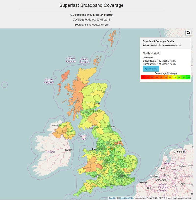 Browse Maps and Check Broadband Performance and Coverage Across the UK